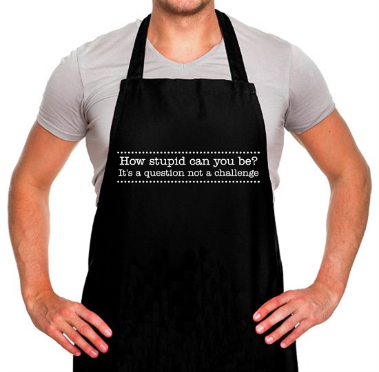 How stupid can you be - it's a question not a challenge Apron