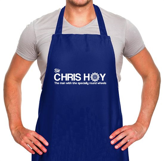 Sir Chris Hoy The Man With The Specially Round Wheels Apron