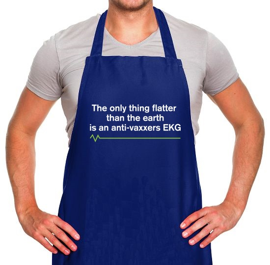 The Only Thing Flatter Than The Earth Apron