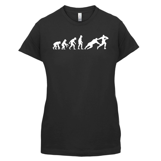 Evolution of Man Rugby t-shirts for ladies