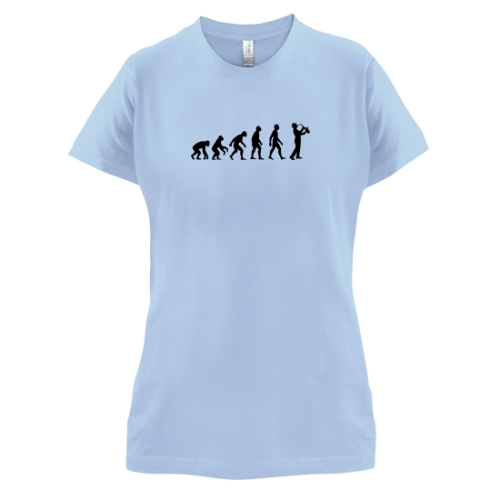 Evolution Of Man Saxophone t-shirts for ladies