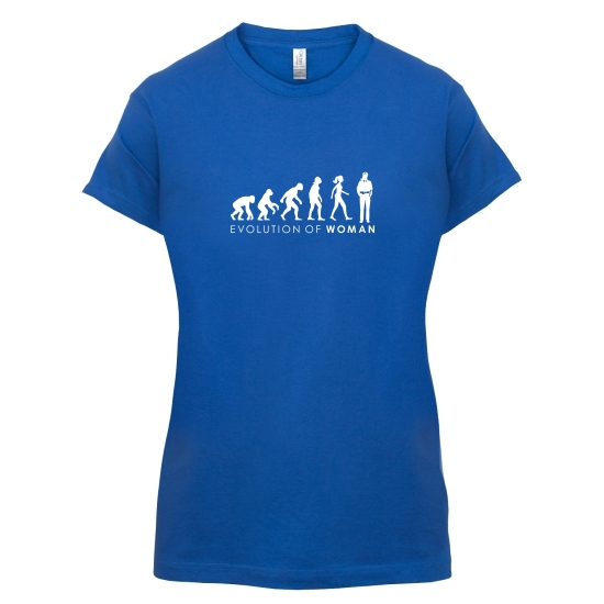 Evolution Of Police Woman t-shirts for ladies