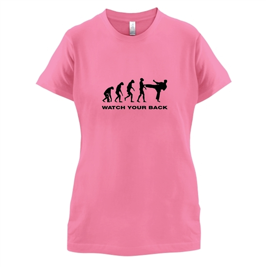 Watch Your Back Evolution t-shirts for ladies