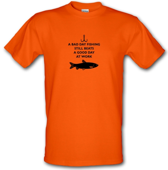 A Bad Day Fishing Beats A Good Day At Work T-Shirts for Kids