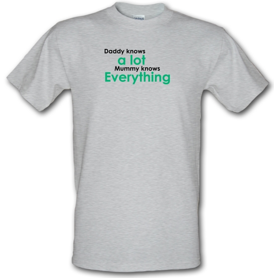 Daddy Knows A Lot But Mummy Knows Everything T-Shirts for Kids