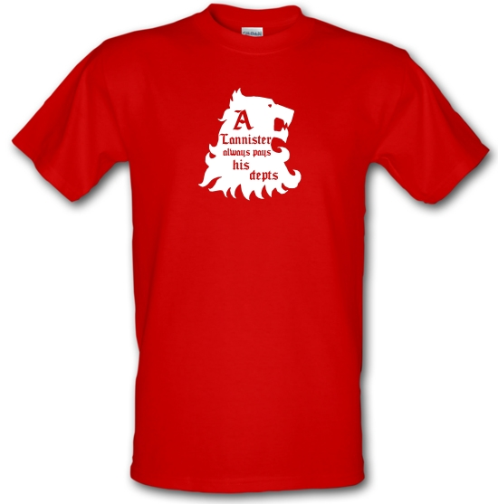 Game Of Thrones - A Lannister Always Pays His Depts T-Shirts for Kids