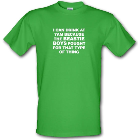 I Can Drink At 7am Because The Beastie Boys Fought For That Type Of Thing T-Shirts for Kids