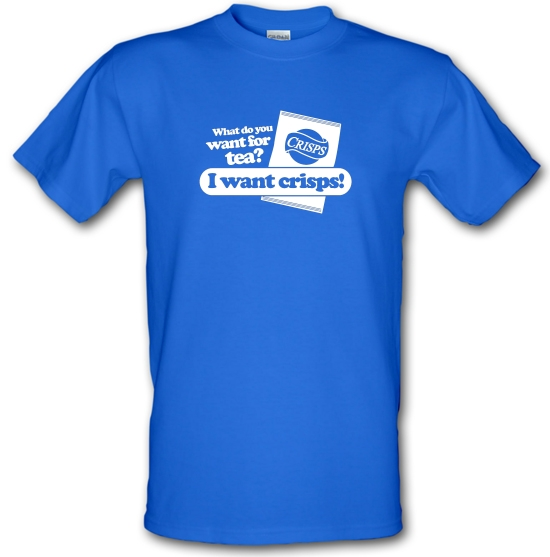 What Do You Want For Tea? I Want Crisps! T-Shirts for Kids