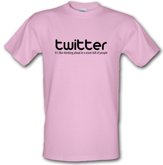twitter it's like thinking aloud in a room full of people T-Shirts for Kids