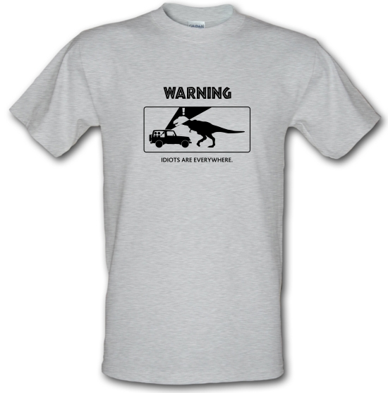 Warning Idiots Are Everywhere T-Shirts for Kids