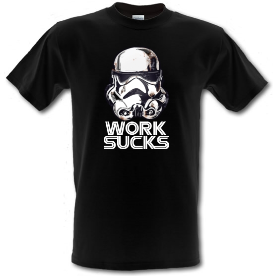 Work Sucks Helmet T-Shirts for Kids