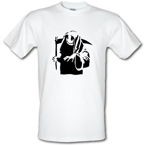 Banksy Grin Reaper t-shirts