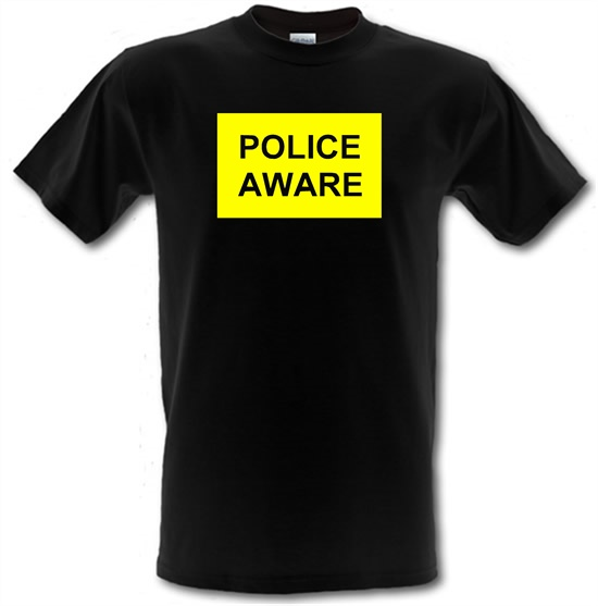Police aware t-shirts