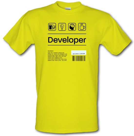 Developer Ingredients t-shirts