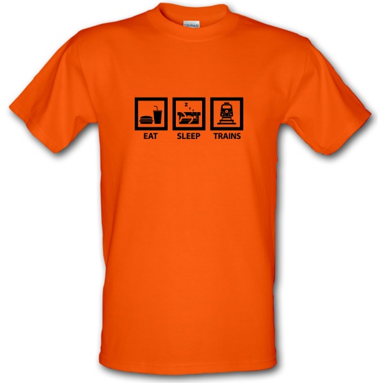 Eat, Sleep, Trains t-shirts