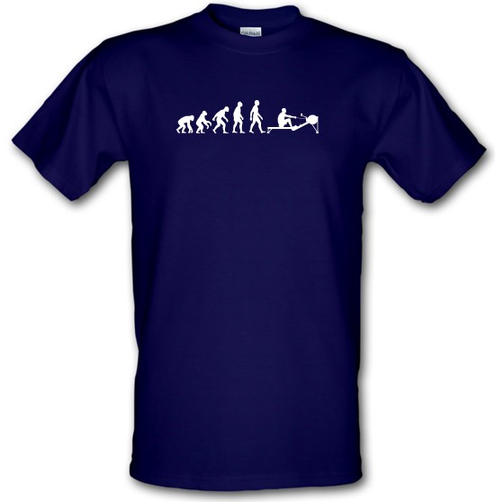 Evolution of Man Rowing Machine t-shirts