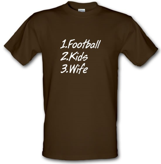 Football Kids Wife t-shirts