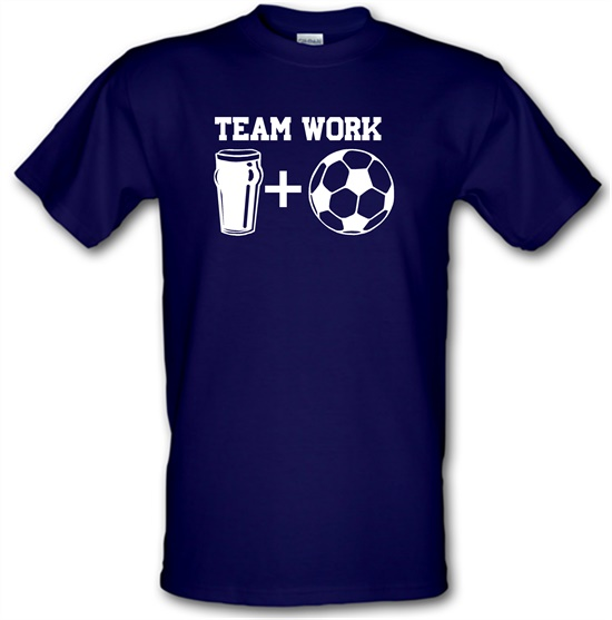 Teamwork, beer and football t-shirts