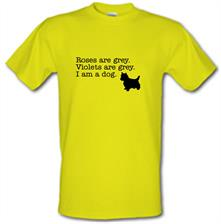 Roses are grey, voilets are grey, I'm a dog! t shirt