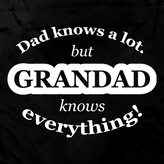 Dad Knows A Lot But Grandad Knows Everything Apron