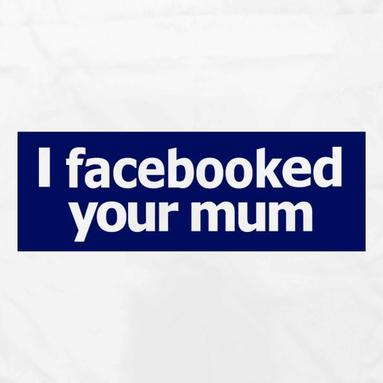 I Facebooked Your Mum Apron