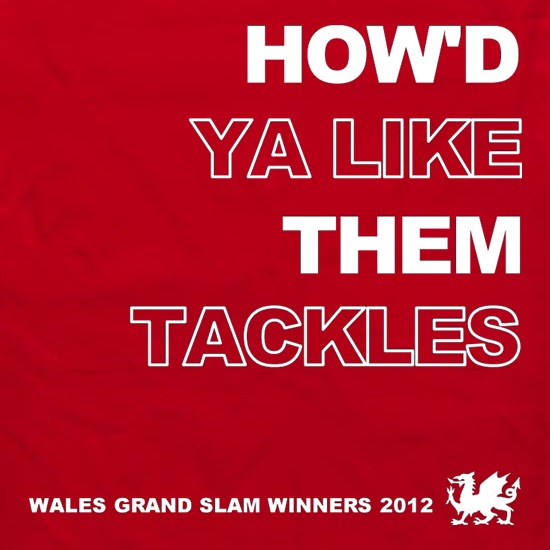 How'd Ya Like Them Tackles Wales Grand Slam Winners Apron