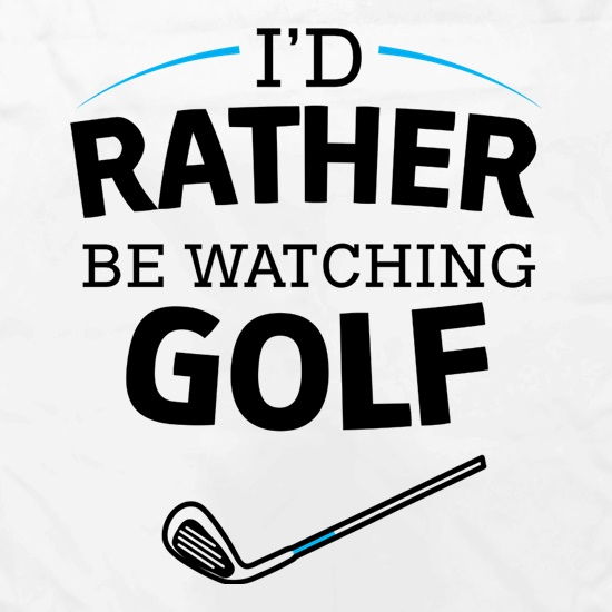 I'd Rather Be Watching Golf Apron