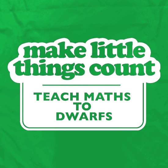 Make Little Things Count Teach Maths To Dwarfs Apron