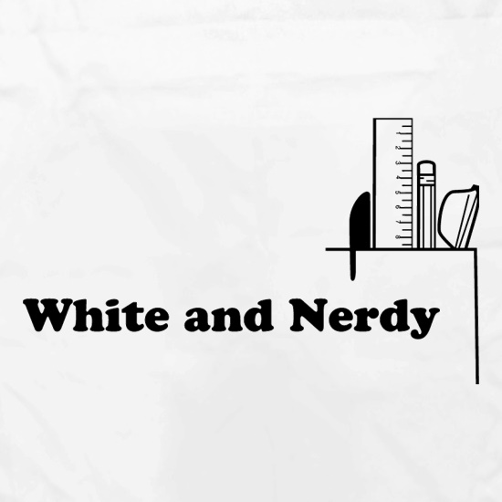 White and Nerdy Apron