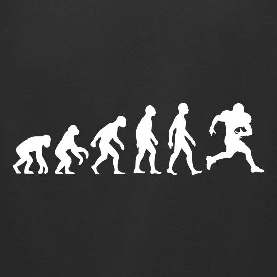 Evolution Of Man American Football t-shirts for ladies