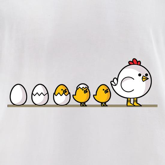 Evolution Of Chicken t-shirts for ladies