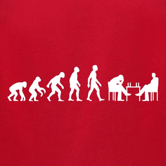 Evolution Of Man Chess t-shirts for ladies