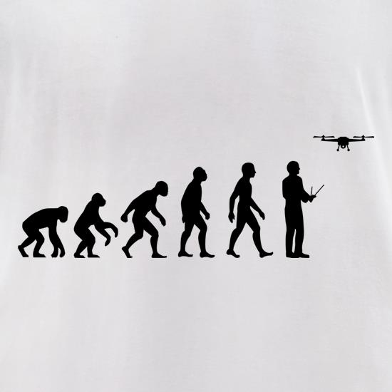 Evolution Of Man Droning t-shirts for ladies