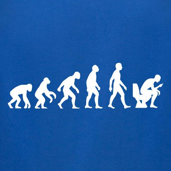 Evolution of Man Toilet Phone t-shirts for ladies