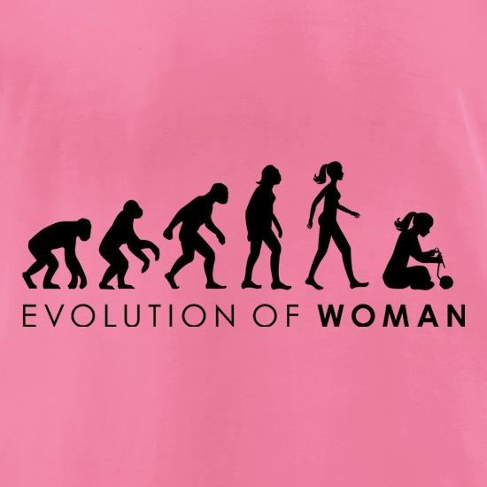 Evolution Of Woman Knitting t-shirts for ladies