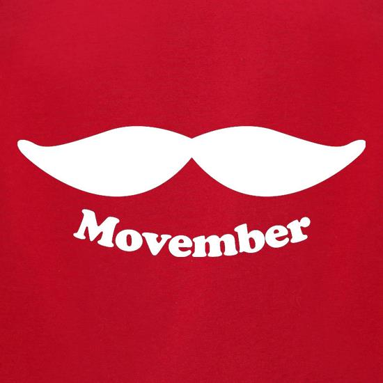 Movember t-shirts for ladies