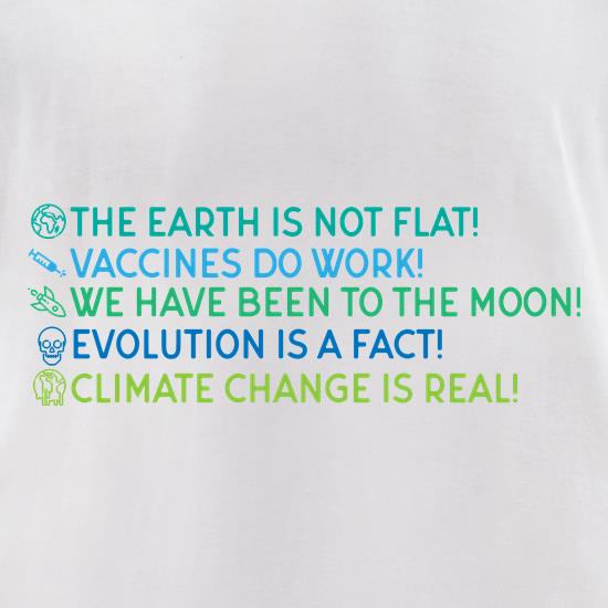 The Earth Is Not Flat t-shirts for ladies