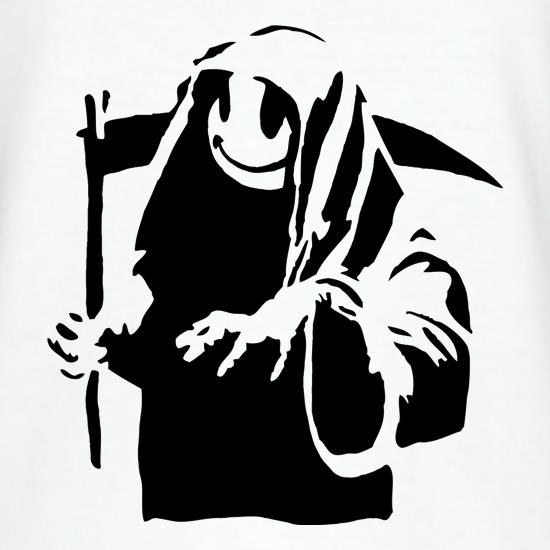 Banksy Grin Reaper T-Shirts for Kids