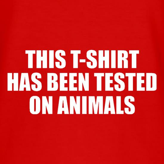 This t-shirt has been tested on Animals T-Shirts for Kids