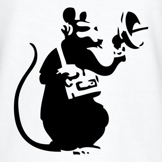 Banksy Listening Rat T-Shirts for Kids
