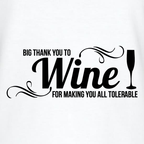 Big thank you to Wine for making you all tolerable T-Shirts for Kids