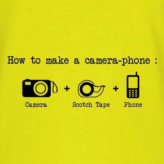 How To Make A Camera Phone T-Shirts for Kids