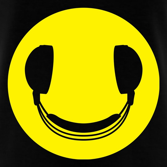 DJ Headphones Smiley Face T-Shirts for Kids