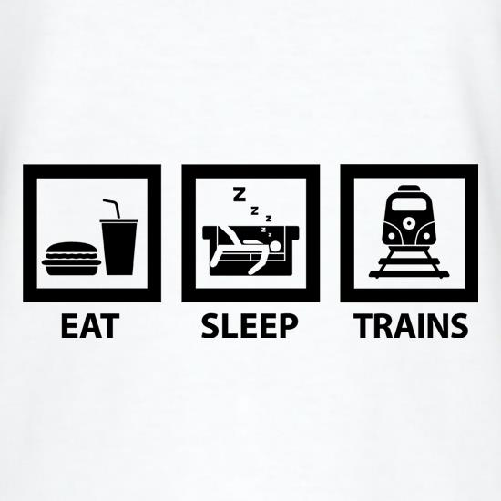 Eat, Sleep, Trains T-Shirts for Kids