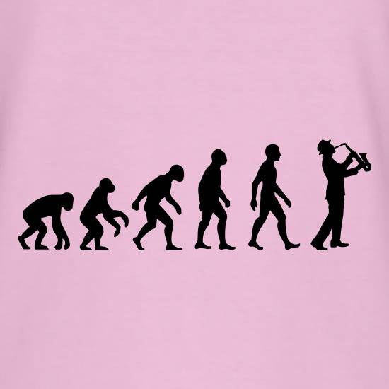 Evolution Of Man Saxophone T-Shirts for Kids