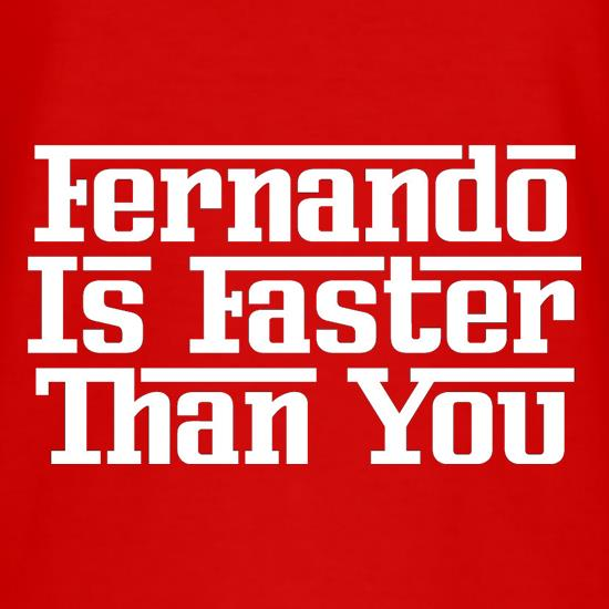 Fernando Is Faster Than You T-Shirts for Kids