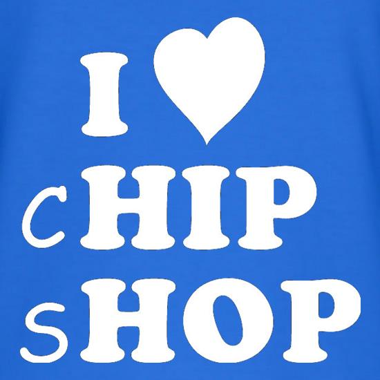 I Love Chip Shop T-Shirts for Kids