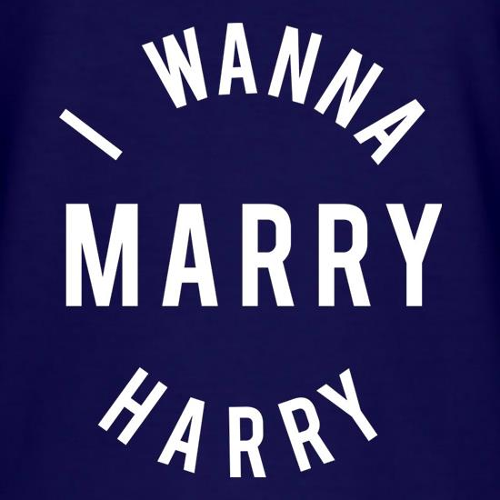 I Wanna Marry Harry T-Shirts for Kids