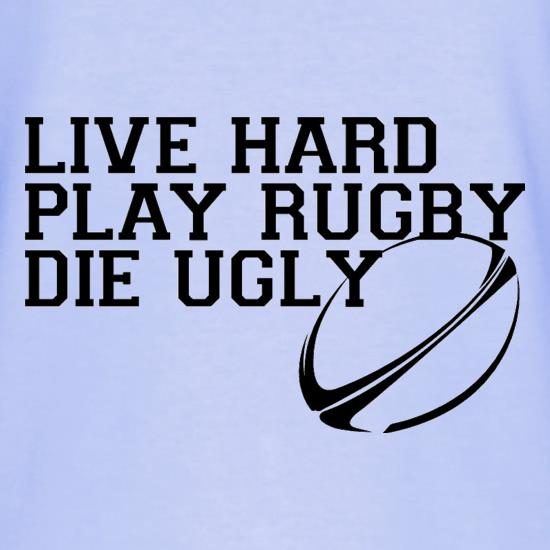 Live Hard Play Rugby Die Ugly T-Shirts for Kids