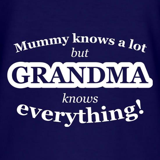 Mummy Knows A Lot, But Grandma Knows Everything T-Shirts for Kids